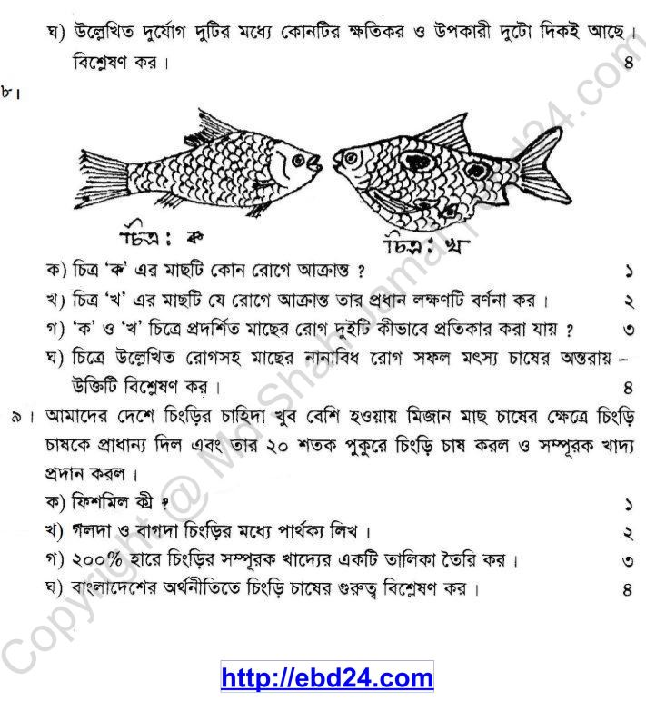 Agriculture Suggestion and Question Patterns of JSC Examination 2013